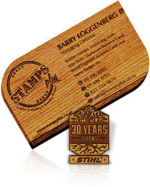 Wooden Business Cards Stamps Plus