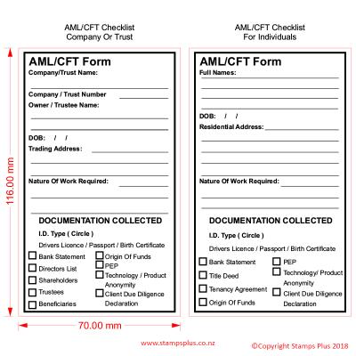 AMl / CFT- Form Stamp