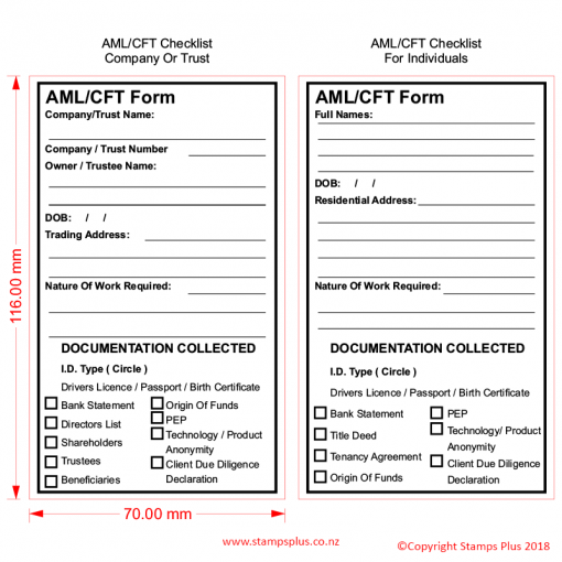 AMl / CFT- Form Stamp