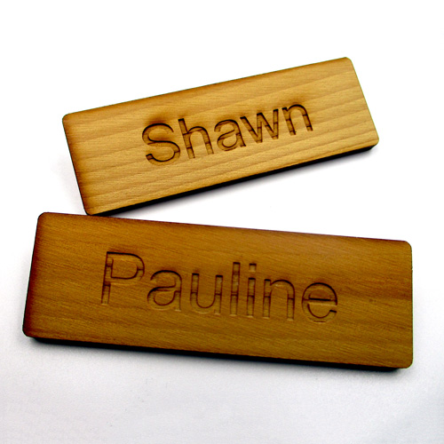 Plain Wooden Badge