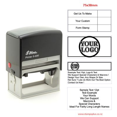 S830 78x38mm Self Inking Rubber Stamp