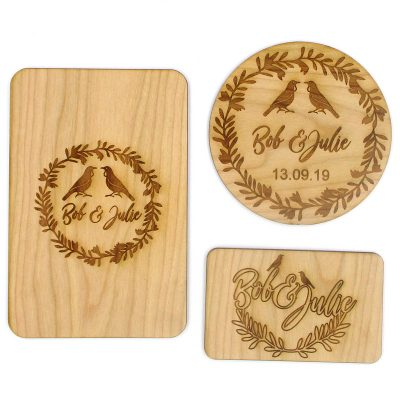 Engraved Wooden Invitations