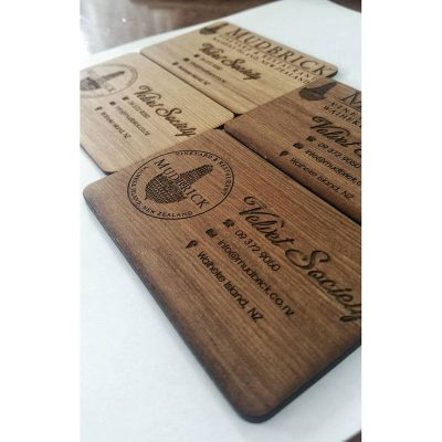 Wood Engraved Cards