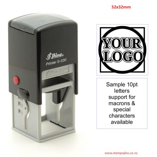 S530 32x32mm Self Inking Rubber Stamp