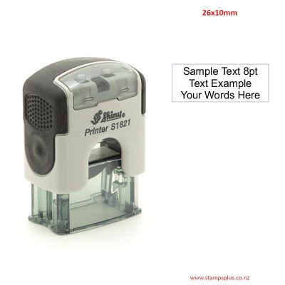 S1821 26x10mm Self Inking Rubber Stamp