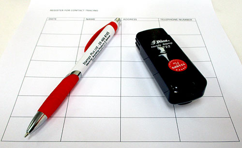 Pocket-sized personal rubber stamp